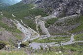 Trolls' Path (norwegian Trollstigen) - the famous road of Norway.