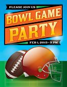 American Football Bowl Game Party Illustration
