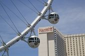 Las Vegas newest attraction The High Roller Ferris Wheel cabins