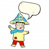 stock photo of magical-mushroom  - cartoon magic mushroom man - JPG