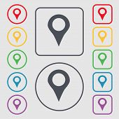 picture of gps  - Map pointer GPS location icon sign - JPG
