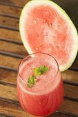 image of watermelon slices  - Watermelon Juice garnished with watermelon slices - JPG