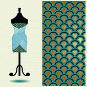 picture of dress mannequin  - Vector fashion illustration women - JPG