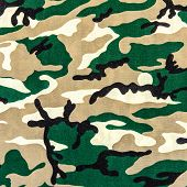 foto of camoflage  - texture of print fabric military camouflage for background - JPG