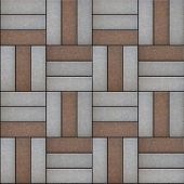 image of paving  - Paving  Geometric Shapes Consisting of a Rectangular Form - JPG