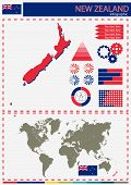 picture of nationalism  - vector New Zealand  illustration country nation national culture - JPG