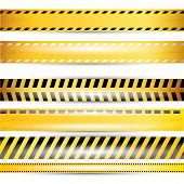 image of law order  - Yellow security warning tapes set Caution - JPG