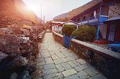 picture of sherpa  - Village in  Nepal - JPG