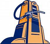 Retro Gasoline pump station nozzle