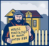 Homeless house foreclosed by bank