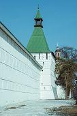 picture of trinity  - Wall of Trinity Sergius Lavra in Sergiev Posad - JPG