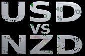 stock photo of nzd  - US dollar versus New Zealand dollar  - JPG