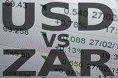 image of zar  - US dollar versus South African rand  - JPG