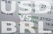 stock photo of brazilian money  - US dollar versus Brazilian real  - JPG