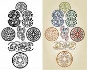 image of art nouveau  - art nouveau pattern collection with floral and plant pattern - JPG