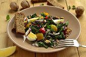 image of nettle  - Salad with nettles - JPG