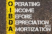 picture of amortization  - Business Acronym OIBDA - Operating Income Before Depreciation And Amortization.