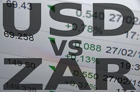 stock photo of zar  - US dollar versus South African rand  - JPG