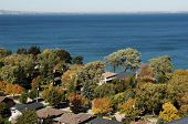 pic of burlington  - The view from the roof on a condo high rise to downtown Hamilton and