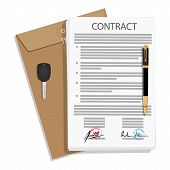 Signed Business Contract poster