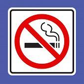 Não cantar fumar - vetor