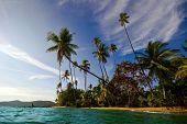 Tropical beach on Ko Mak island. Kingdom Thailand