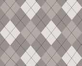 Grey And White Argyle Design