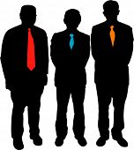 stock photo of business success  - Silhouette of business men - JPG