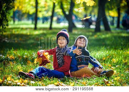 Happy Children Playing In Beautiful