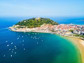 San Sebastian Or Donostia Aerial Panoramic View. San Sebastian Is A Coastal City In The Basque Count poster