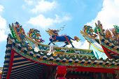 Chinese dragon on temple roof