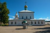 Cathedral Of The Descent Of The Holy Spirit In The Borovichi Holy Spirit Monastery. Borovichi, Russi poster