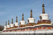 image of tantric  - Eight Merits stupas in Kumbum Monastery in Qinghai China - JPG