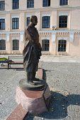 Higher technological school. Kiev,Ukraine. Campus. Historical area. Igor Sikorsky monument