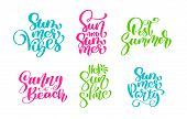 Travel Lifestyle Motivational Phrases Mega Set. Hand Drawn Summer Vector Calligraphy Lettering Text. poster