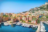 Luxury Residential Area Monaco-ville With Yachts, Monaco, Cote Dazur, France poster