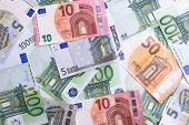 Euro Money. Euro Cash Background. Euro Money Banknotes. poster