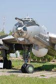 Bear. TU-95.Exhibit of museum of aviation . Kiev,Ukraine (Malorussia)