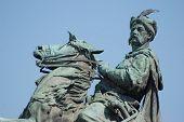 picture of bohdan  - Monument of famous Ukranian Hethman Bogdan Khmelnitsky in Kiev - JPG