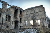 HDR.Lost city. Near Chernobyl area. Modern ruins. Ukraine. Kiev region