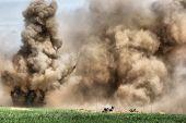 HDR.Explosion. WW2 wiederkehrenden. Kiew, Ukraine