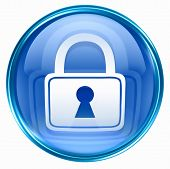 picture of locksmith  - Lock icon blue isolated on white background - JPG