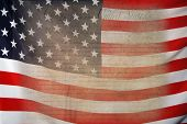 stock photo of preamble  - Bill of Rights with USA Flag as background for Clip - JPG