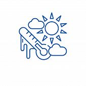 Weather Climate Line Icon Concept. Weather Climate Flat  Vector Symbol, Sign, Outline Illustration. poster