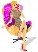 Fashion Doll Sitting