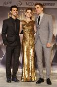 BERLIN, GERMANY - NOV 16: KRISTEN STEWART, ROBERT PATTINSON, TAYLOR LAUTNER at The Twilight Saga: Br