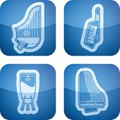 stock photo of congas  - Music and music instruments theme, from left to right, top to bottom:  