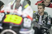 CHESTE - NOVEMBER 13: Alvaro Bautista during first test of MotoGP for 2013, on November 13, 2012, in Ricardo Tormo Circuit of Cheste, Valencia, Spain