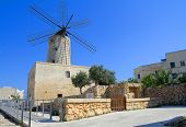Typical Old Mediterranean Windmill