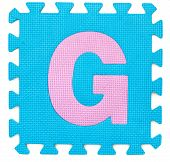 Rubber Alphabet G Isolated